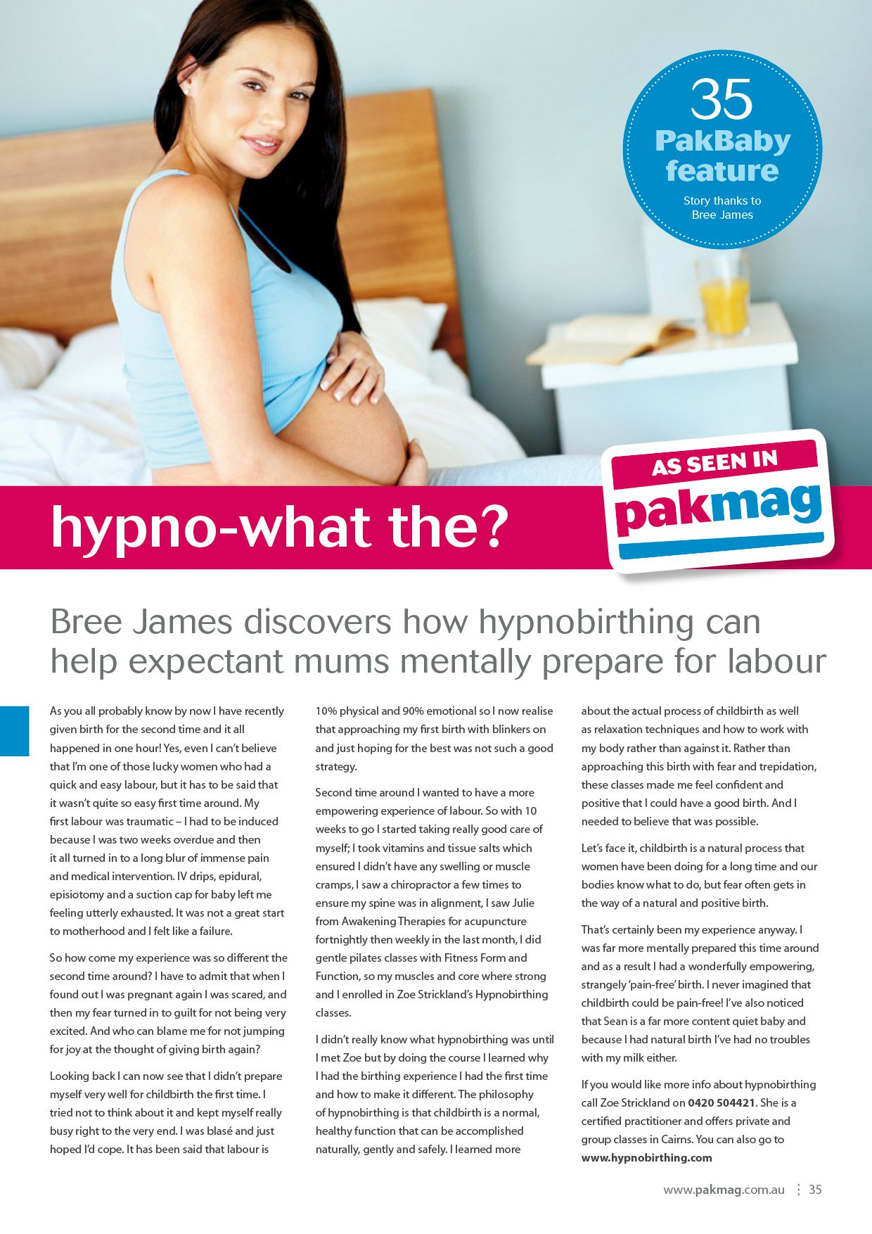 Cairns Hypnobirthing Articles